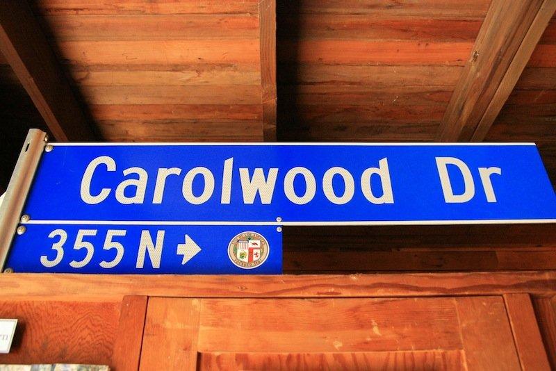 Original Street Sign | Carolwood.org